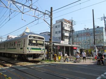 東急多摩川線武蔵新田駅前