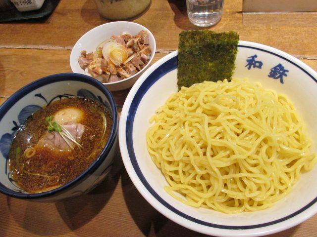 和鉄つけ麺 830円(大盛り無料)