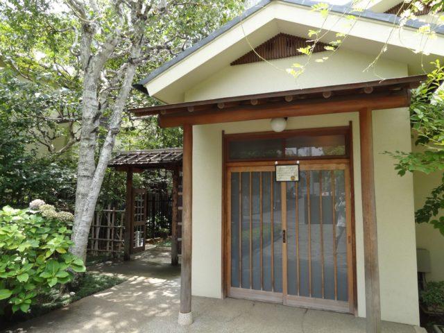 尾崎士郎記念館玄関