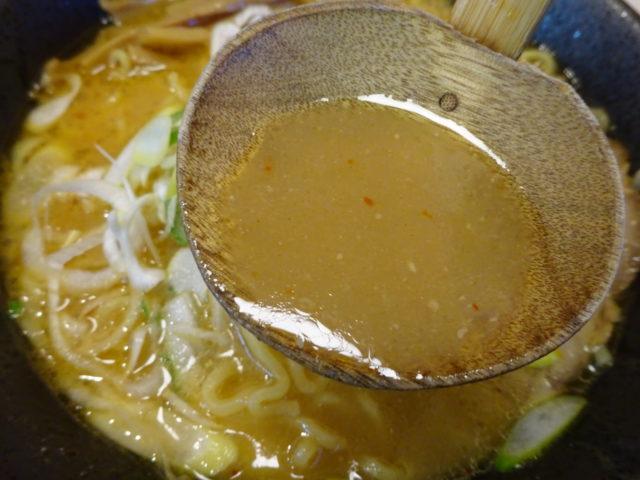 壱鵠堂白味噌ラーメンのスープ