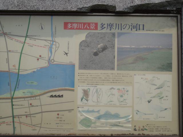 多摩川八景の説明板
