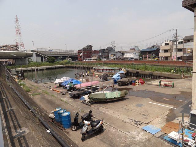 釣り船、屋形船などの発着場