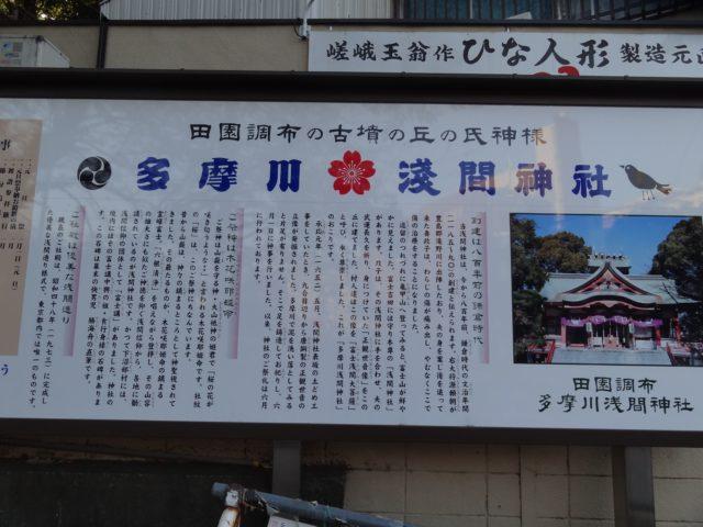 多摩川浅間神社の説明板