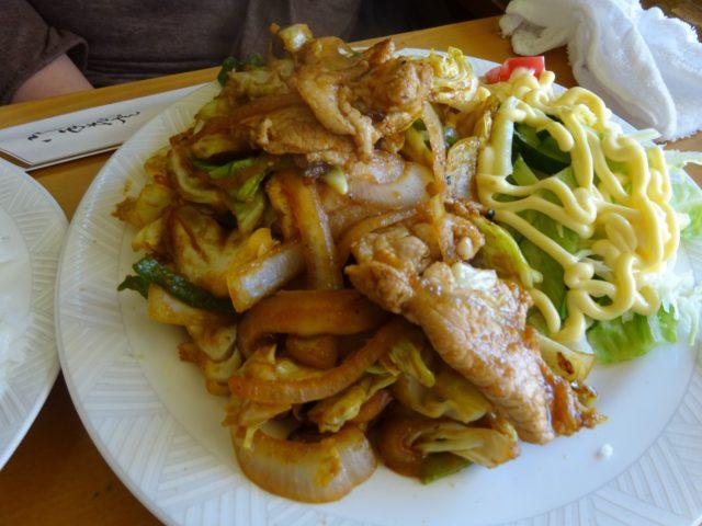 ずうの生姜焼き定食
