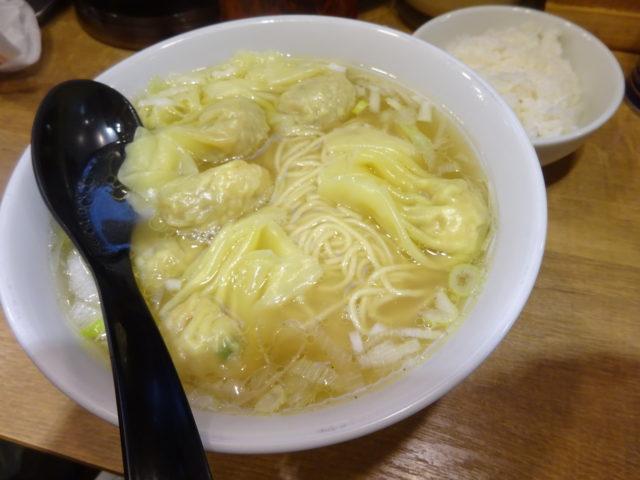 横浜家系らーめん希家池上店のワンタン麺