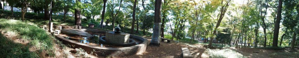 アカガエルの生態に配慮した噴水
