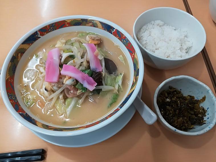 ちゃんぽん+高菜ご飯セット