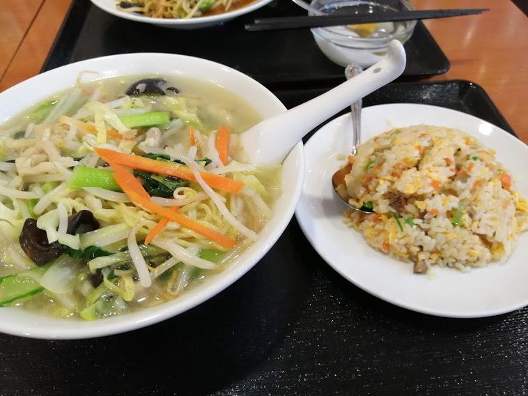 野菜タンメン+半チャーハン